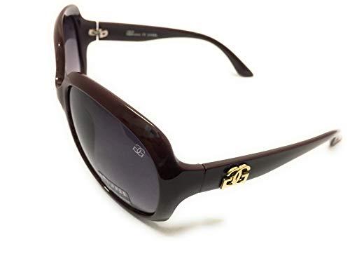 GG Eyewear Designer Sunglasses on Discount - Full UV400 Protection - Fashion Oversized Sunglasses - Model : GGucineri-Flash2019 With FREE Case GR018:Mat-Brown (Discount Designer Glasses)