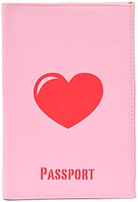 Dresz Cover Heart Red Passport Wallet, 16 cm, Pink