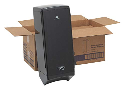 anslucent Smoke Face Wall or Pole Mount Tower Napkin Dispenser (Pole Sold Separately), (WxDxH) 10.5