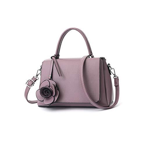 Donna Classica Borse a Mano Lmpermeabile Fashion Borse Messenger Metallo Kawaii Borse Spalla Cinghia a Tracolla Borse Secchiello Classici Floreale Borse Da Lavoro Pu Borse Shopper Purple