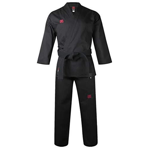 Mooto Korea Taekwondo BS4 Open Type Uniform Black TKD Dobok Hapkido (180 (Height : 180~189cm)(5.90~6.20ft)