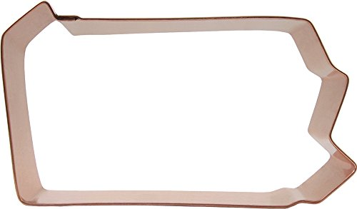 Copper Cookie Cutter State (CopperGifts: Pennsylvania State Shape Cookie Cutter)