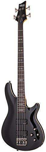 4 String Active Bass Pickup - Schecter OMEN-4 4-String Bass Guitar, Black