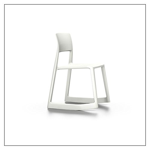 (Vitra Tip Ton Forward-Tilting, Stackable Chair, Color = White)