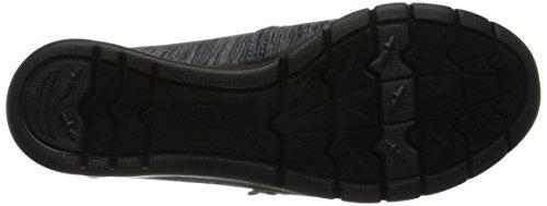 Women's BOBS Black Heathers Grey Shoe from Skechers Pureflex U6HWvU1
