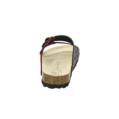 AFS-Schuhe 2100, Sportliche Damen-Pantoletten, Praktische Arbeitsschuhe, Hochwertiges, Echtes Leder Beere