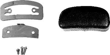 HardDrive 086135 Sissy Bar Pads - 3in. Mini - Smooth