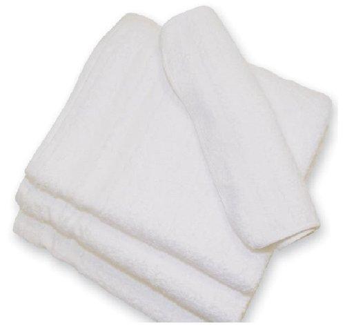 120 (10 Dz) White 100% Cotton Hotel Wash Cloths 12x12