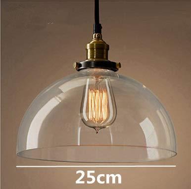 レトロヴィンテージガラスペンダントライト屋内吊り照明アメリカロフトスタイルバーレストラン装飾照明器具 LED 照明ライト (Size : 4) 4  B07Q2XM7VZ