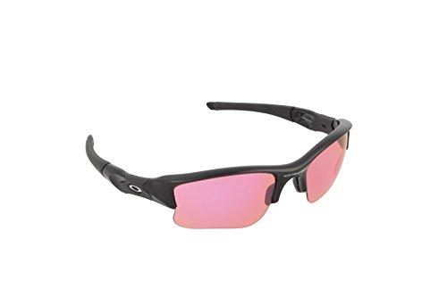 Oakley Men's Flak Jacket XLJ OO9009-08 Iridium Rectangular Sunglasses, Polished Black, 63 - Sunglasses Boys Oakley