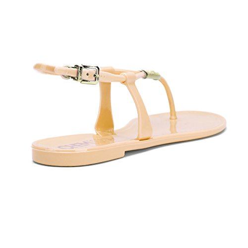 Chemistry® Dianna Womens Gladiateur Romain Tongs Sandales Plates Réglables Bride À La Cheville Tongs Chaussures Rose Clair