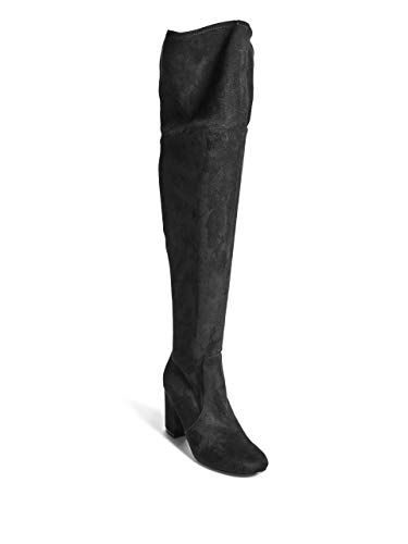 GUESS Boots Men's Fabric The Lacing Over Knee Black nwHAZqPn