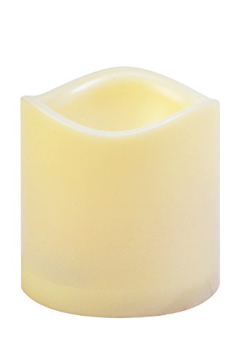 Moonrays 93102 Flameless Flickering Pilar Candle, 3-Inch