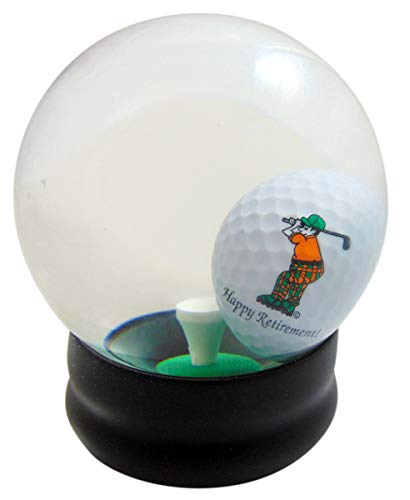 Westman Works Happy Retirement Water Globe Golf Game for Golfer Retiree Boxed
