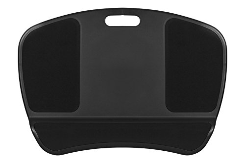 LapGear XL Laptop Lap Desk with Left & Right Mouse Pads - Black