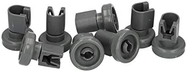 8x Rodillos de jaula rodillos cesto superior para lavavajillas AEG Electrolux 5028696700 502869670/0