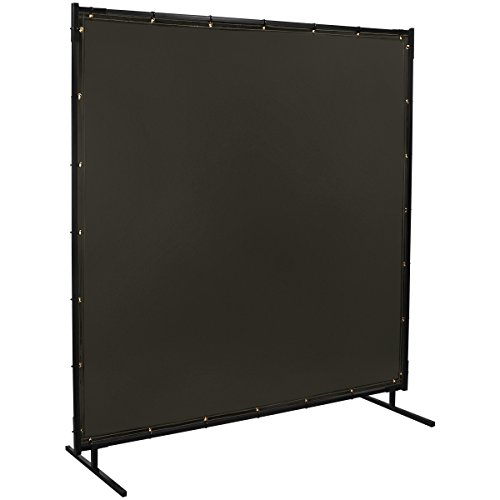 (Steiner 532-6X6 Protect-O-Screen Classic Welding Screen with Flame Retardant 14 Mil Tinted Transparent Vinyl Curtain, Gray, 6' x 6')