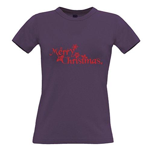 Natale T-Shirt Da Donna Buon Natale Presente festivo stampato Slogan design