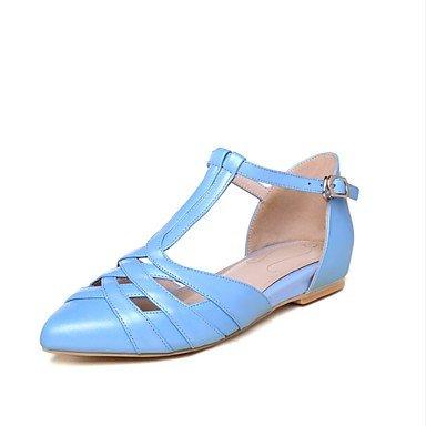 LvYuan las sandalias de las mujeres del resorte de los zapatos del club de verano del zurriago de fiesta al aire libre&noche Light Blue