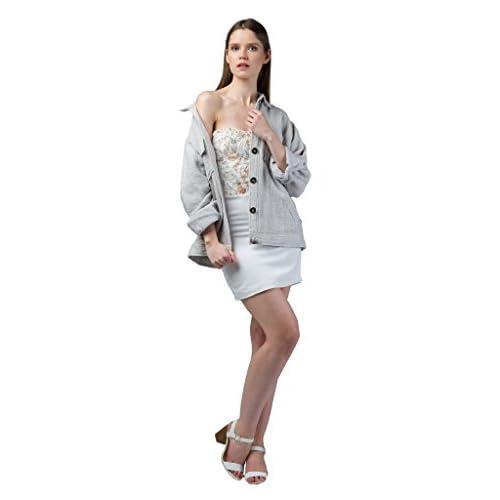 3fb6ed0d8 delicate IMAIMA NUHA Girls Hand Woven Oversized Light Grey Jacket ...