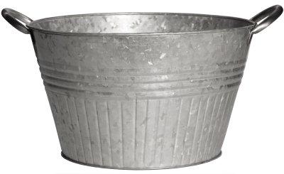 Robert Allen Mpt01648 Round Tub Planter,with Handles, 12