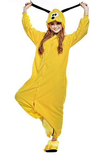 Women's Sleepwear Unisex Adult Pajamas Cosplay Cartoon Animal Costume Christmas Costume (Small,Pluto -
