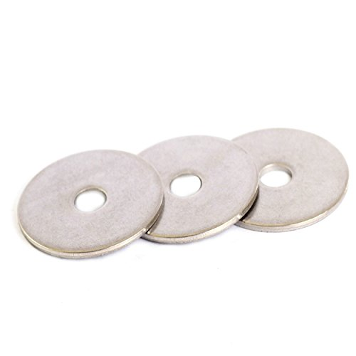 Bolt Base A2 Stainless Steel Penny Repair Washers Mudguard Washers M8 X 40 X 1.5mm Thick - 100
