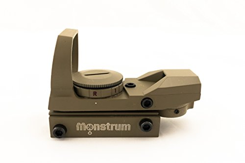 Monstrum Tactical R01C Red Dot Sight with 4 Reticles and Red/Green Illumination (Flat Dark Earth)