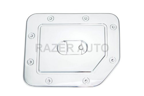 Razer Auto Chrome Fuel Gas Door Cover for 04-13 Nissan Titan ()