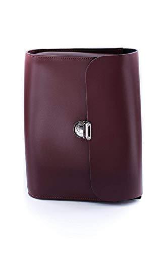 Fait à Main Sac avec coloré Fermoir à Cuir en Gros Main Rouge Burgundy la Taille bandoulière Moontang à xS0dwxq