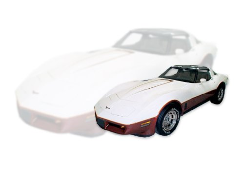 Decal 1982 (1981 1982 Chevrolet Corvette Two-Tone Paint Decals & Stripes Kit - RED)