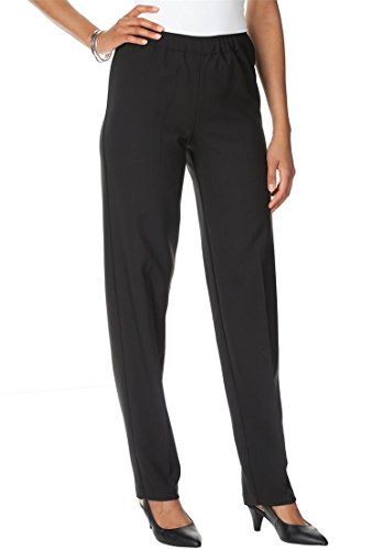 Roamans Women's Plus Size Tall Bend Over Super Stretch Pull-On (Womens Tall Slacks)