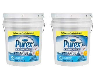 Dial 1729436 Professional Purex Fresh Spring Waters Multipurpose Powder Detergent, 15.6lbs Pail, 274 Load (2) by Dial