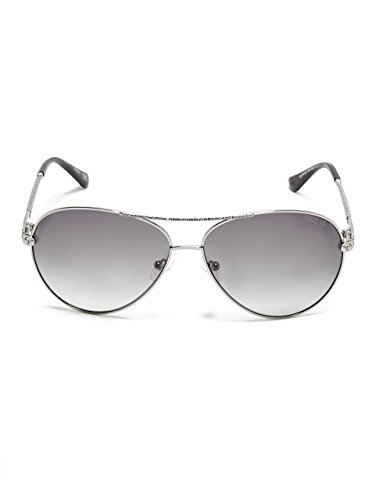 GUESS Women's Catherine Rhinestone Aviator - Face Shaped Shades For Oval