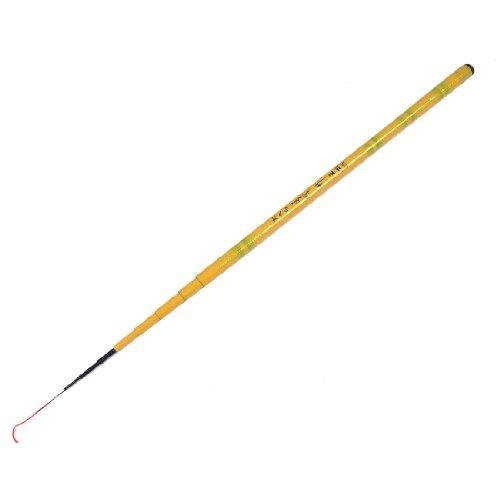 DealMux Carbon Fiber Fisherman Retractable 9 Sections Telescoping Fishing Rod 2.4M Light Orange