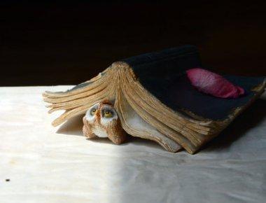 (Gemmia Book Lover Figurine- Thinking Owl/Book)