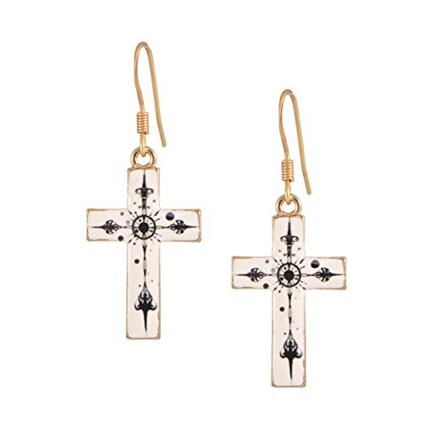 chelseachicNYC Whimsical Charm Dangle Earrings White Cross