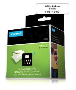Dymo Labelwriter Address - Permanent Adhesive Labels - Black On White - 1.125 In X 3.5 In 700 Label(S) ( 2 Roll(S) X 350 ) - For Dymo Desktop Mailing Solution, Desktop Mailing Solution Twin Turbo Labelwriter & Scale