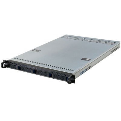 1U Rackmount Server Case with 4 Hot-Swappable SATA or SAS Drive Bays RPC-1204 Mini SAS Connector
