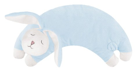 Angel Dear Curved Pillow, Blue Bunny