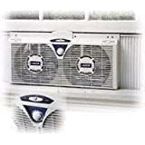 Amazon.com: Holmes HAWF2030 Dual Blade Twin Window Fan with ...