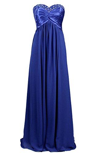 Vantexi mujer 36 tirantes Vestido Sin azul para rxH1rF