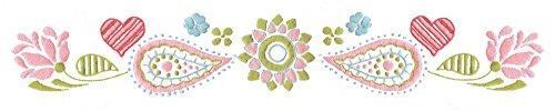 "Design Works Crafts T232160 Tobin Paisley Heart, 20"" x 30"" S"