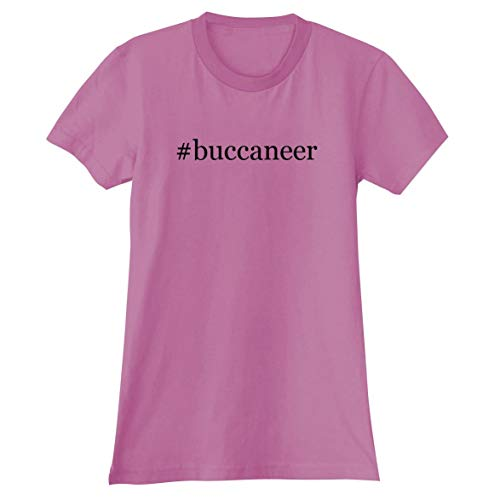 - The Town Butler #Buccaneer - A Soft & Comfortable Hashtag Women's Junior Cut T-Shirt, Pink, XX-Large