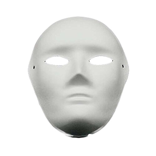 10 Pcs White Mask Costume Mask Painting Full Face Mask Blank