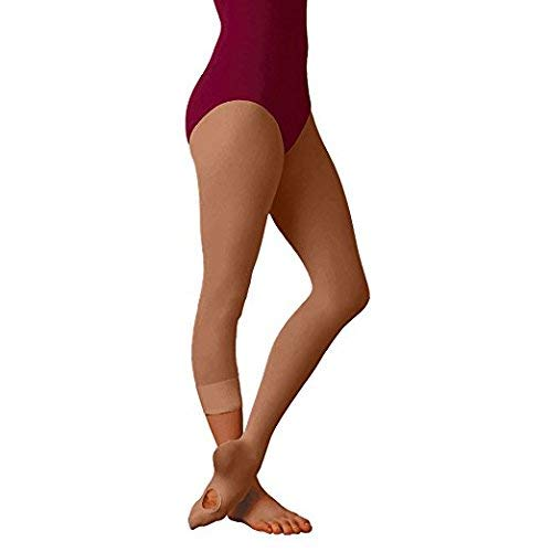Body Wrappers A31 TotalSTRETCH Convertible Dance Tights (Tall, Jazzy Tan) 3-Pk