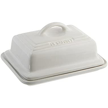 Le Creuset of America Heritage Stoneware Butter Dish, White