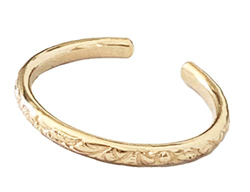 Toe Ring | Hawaiian Breeze Gold Fill Adjustable Ring | for Toe Or Midi | One Size Fits Most