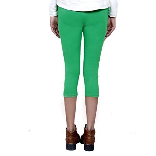 Indistar Big Girls Soft Cotton Leggings Set Of -8