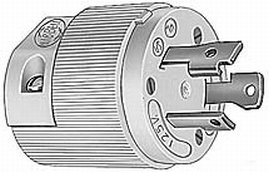 Hubbell HBL26CM11 30 Amp 125 Volt Twist-Lock Plug Connector (Male)